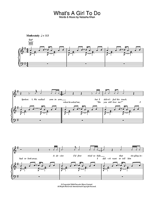 What's A Girl To Do Sheet Music