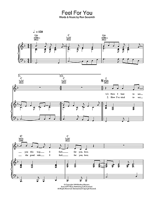 Feel For You Sheet Music