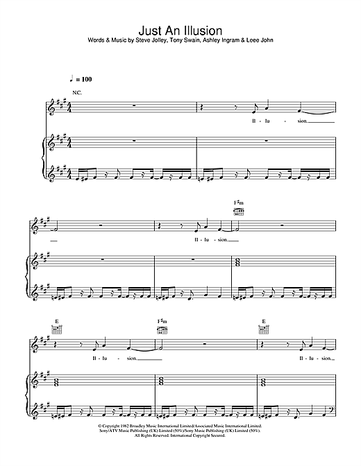 Just An Illusion Sheet Music