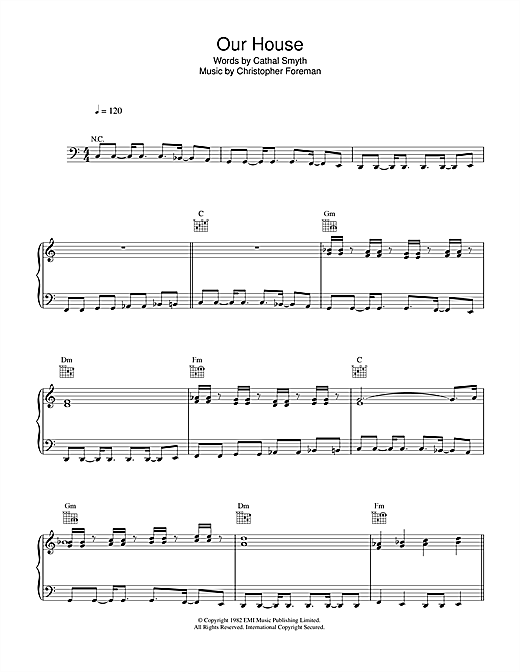 Our House Sheet Music