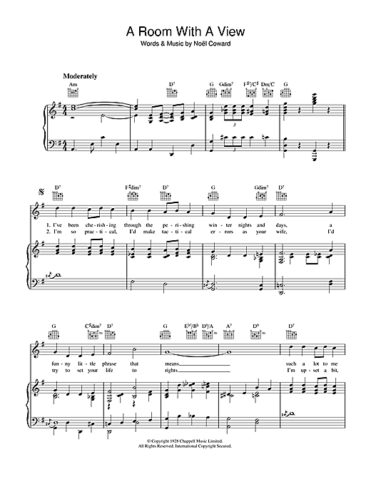 A Room With A View Sheet Music