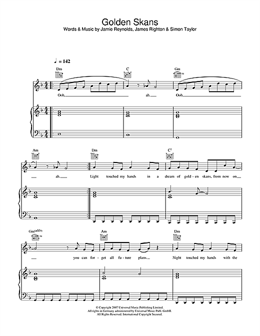 Golden Skans Sheet Music