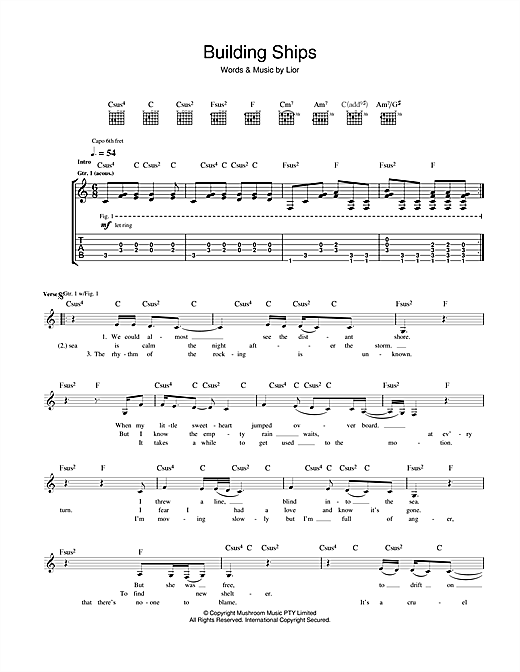 Building Ships Sheet Music
