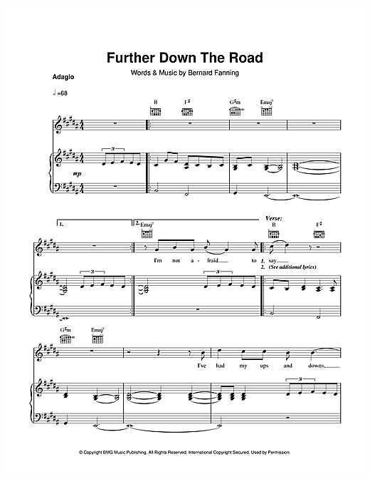 Further Down The Road Sheet Music