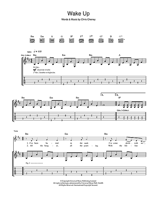 Tablature guitare Wake Up de The Living End - Tablature Guitare