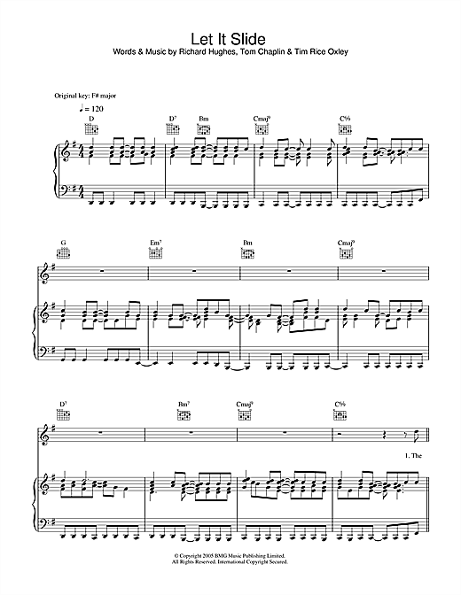 Let It Slide Sheet Music