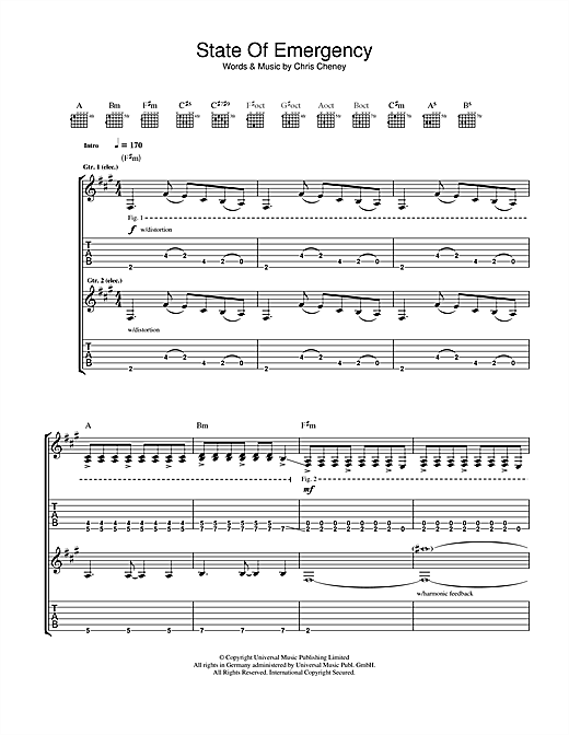 State Of Emergency Sheet Music