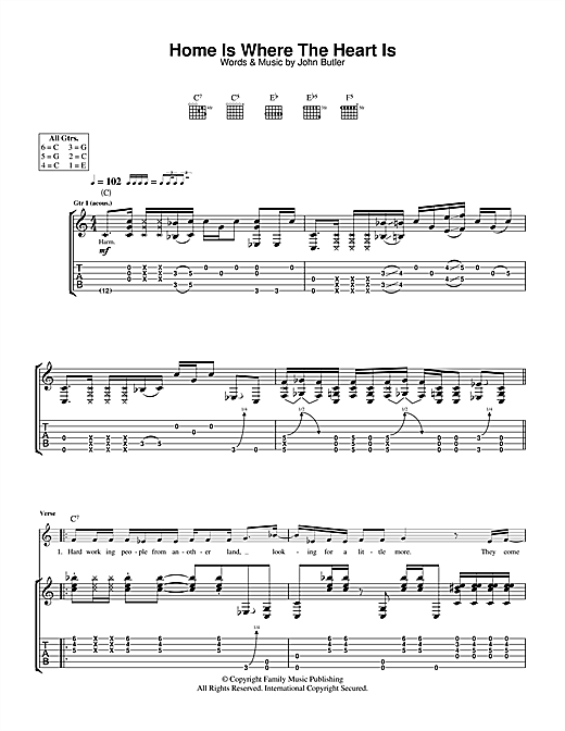 Home Is Where The Heart Is (Guitar Tab)