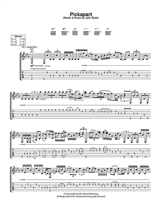 Pickapart Sheet Music