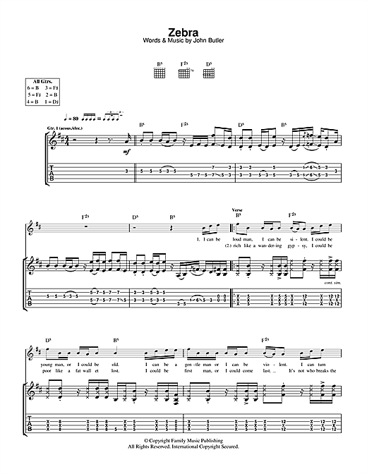 Zebra Sheet Music