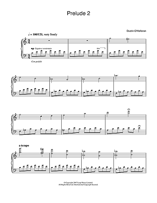 Prelude No.2 (from the Audi A5 ad) Sheet Music