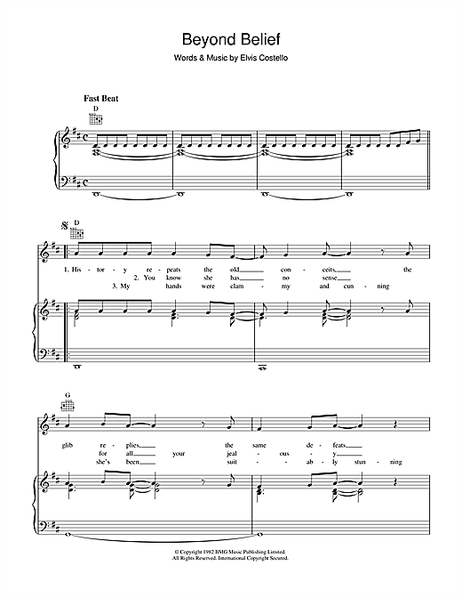 Beyond Belief Sheet Music