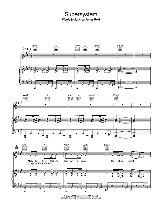 Supersystem Sheet Music