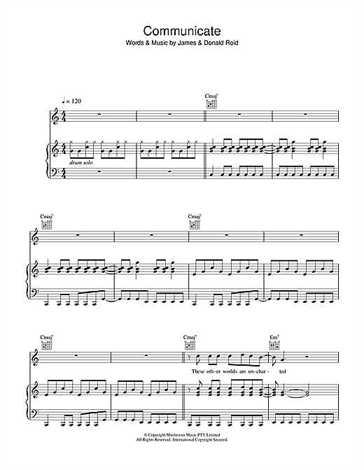 Communicate Sheet Music