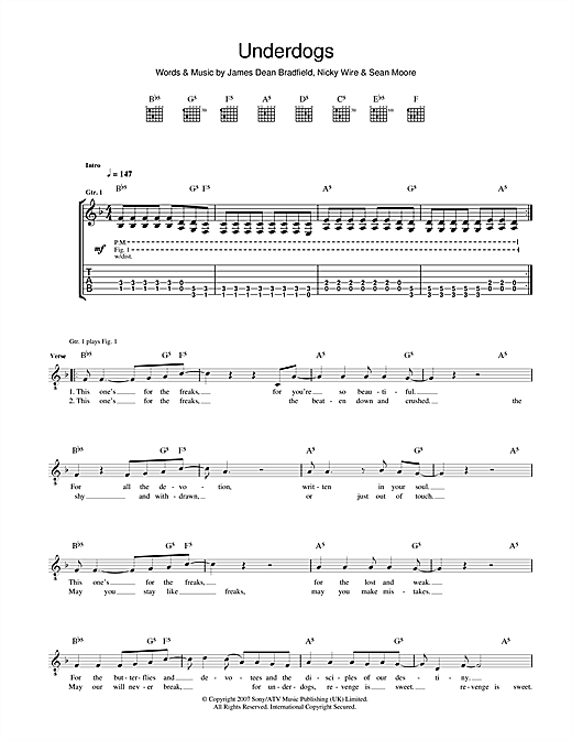 Underdogs Sheet Music