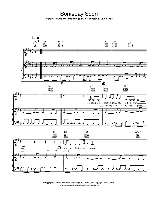 Someday Soon Sheet Music