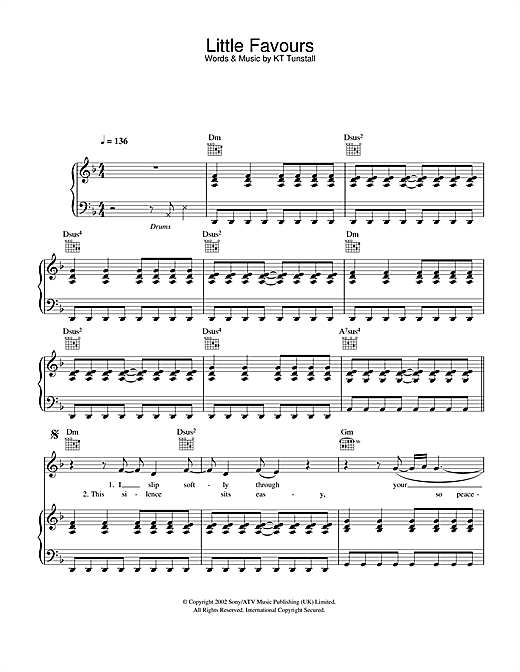Little Favours Sheet Music