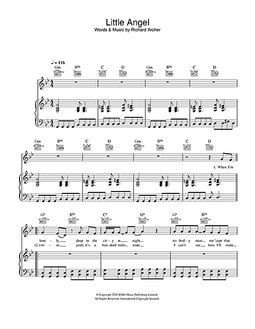 Little Angel Sheet Music