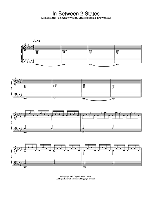In Between 2 States Sheet Music