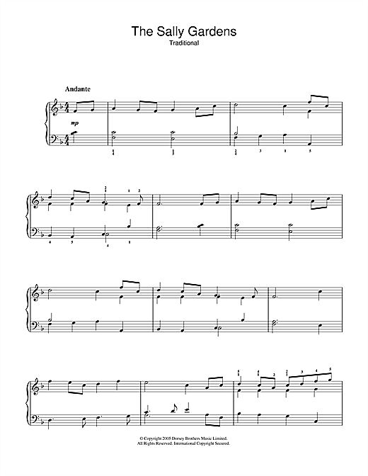 The Sally Gardens Sheet Music