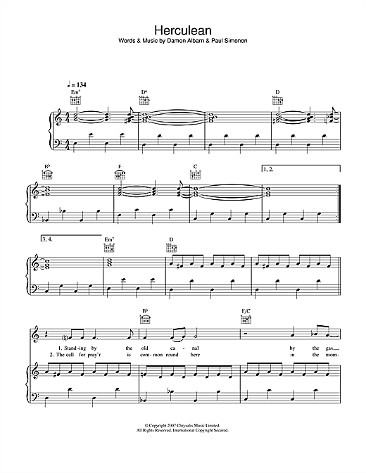 Herculean Sheet Music