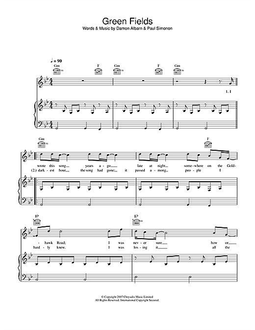 Green Fields Sheet Music