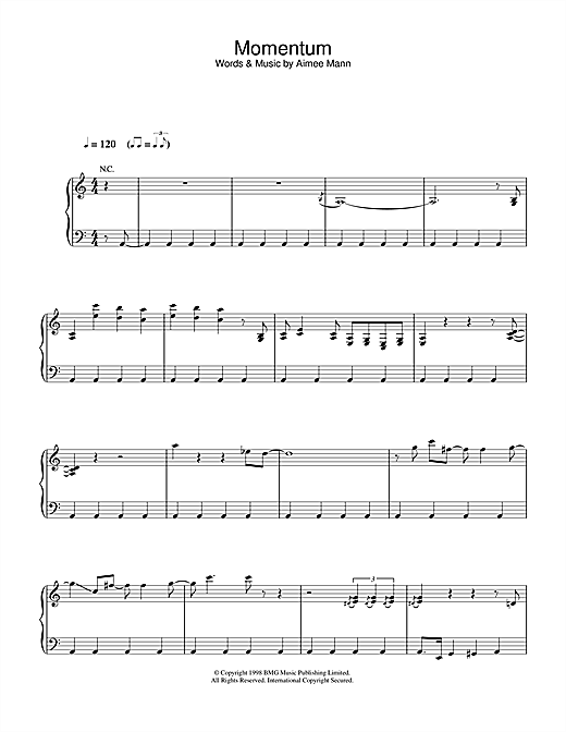Momentum Sheet Music