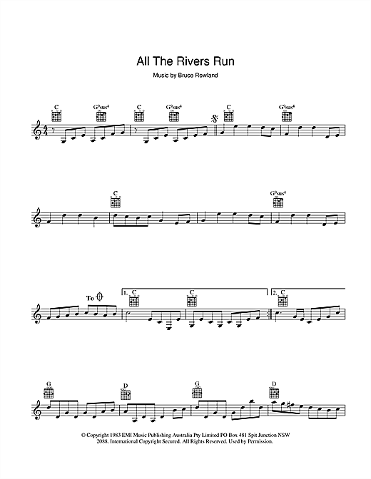 All The Rivers Run Sheet Music