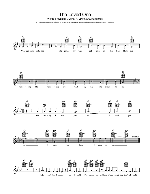 The Loved One Sheet Music