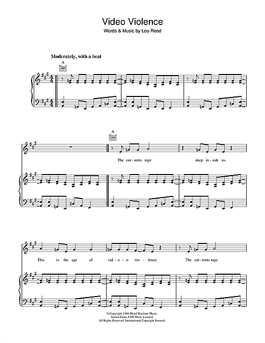 Video Violence Sheet Music