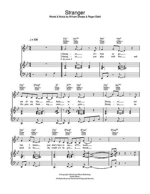 Stranger Sheet Music