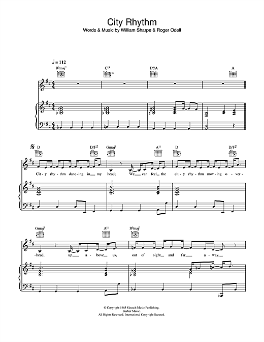 City Rhythm Sheet Music