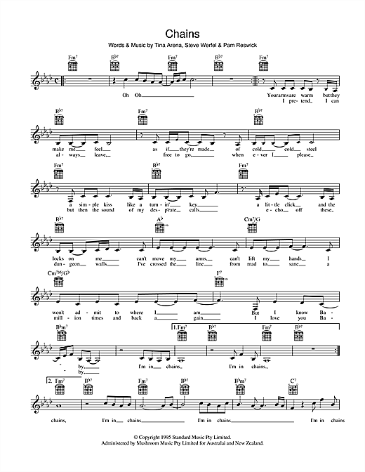Chains (Lead Sheet / Fake Book)