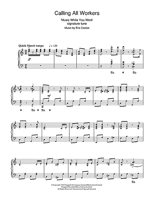 Calling All Workers Sheet Music