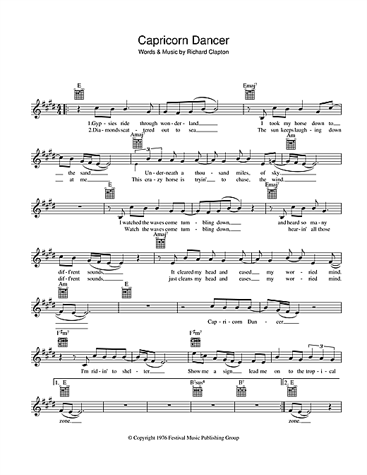 Capricorn Dancer Sheet Music