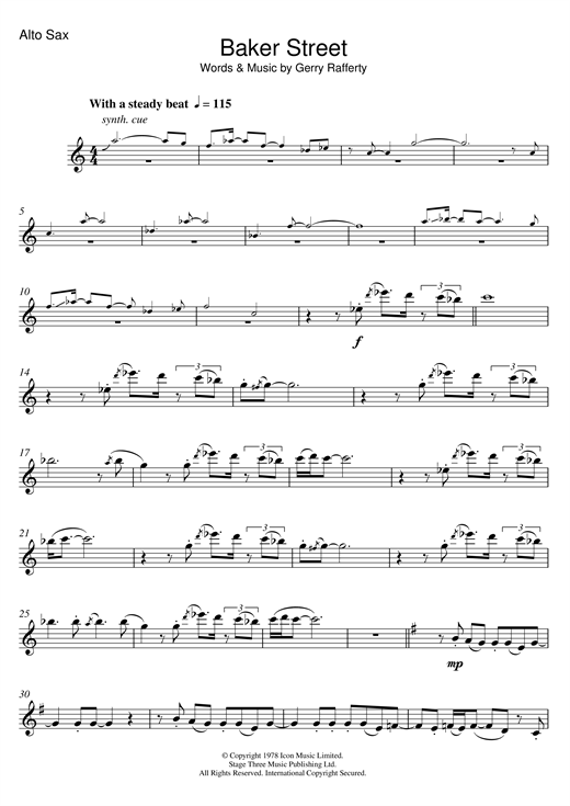 Baker Street Sheet Music