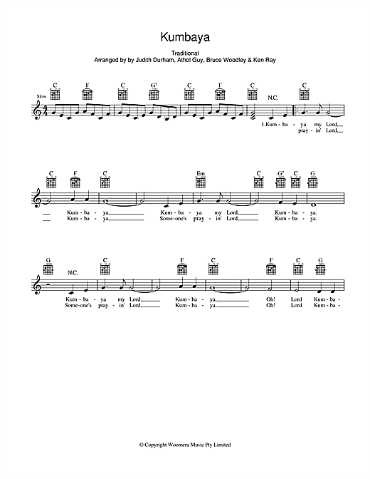 Kumbaya (Lead Sheet / Fake Book)