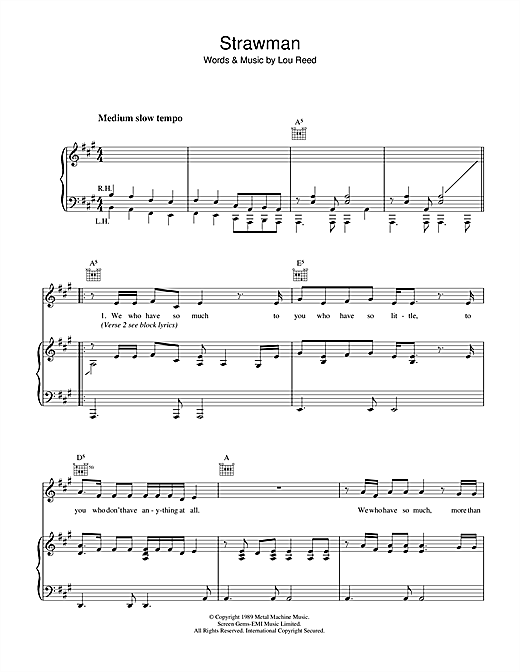 Strawman Sheet Music