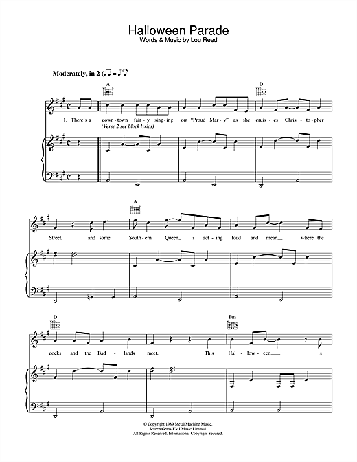 Halloween Parade Sheet Music