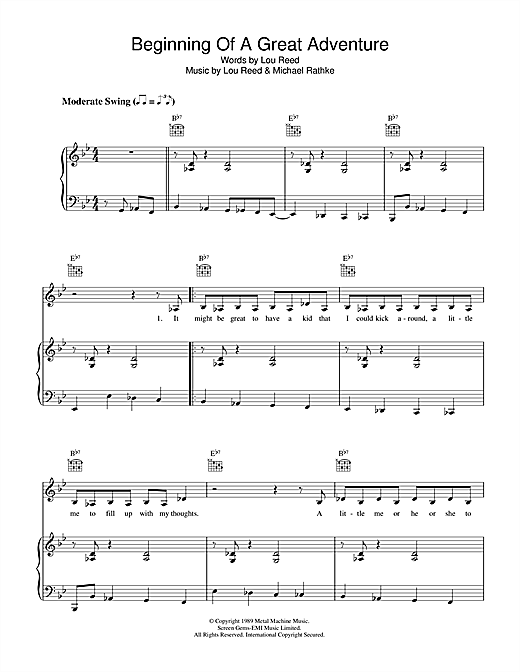 Beginning Of A Great Adventure Sheet Music