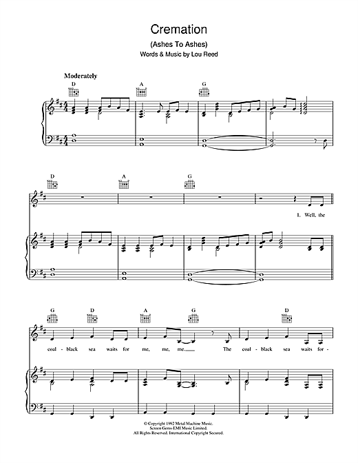 Cremation Sheet Music