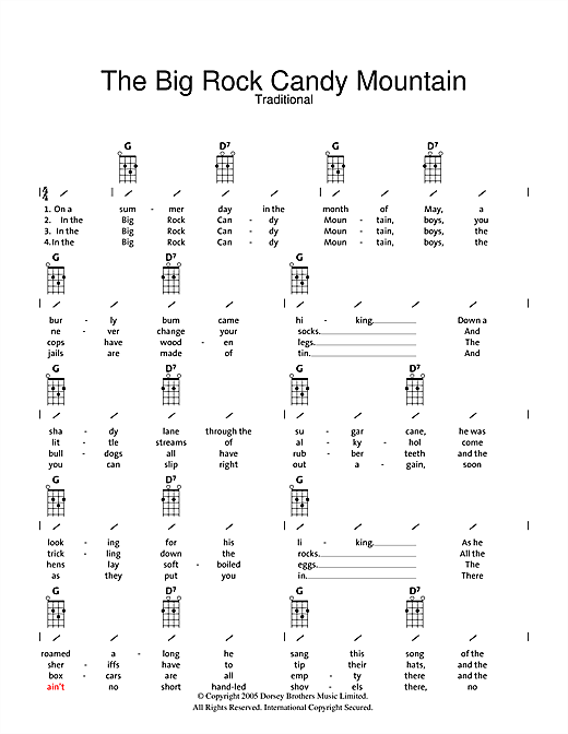 big rock candy mountain sheet music - Heart.impulsar.co