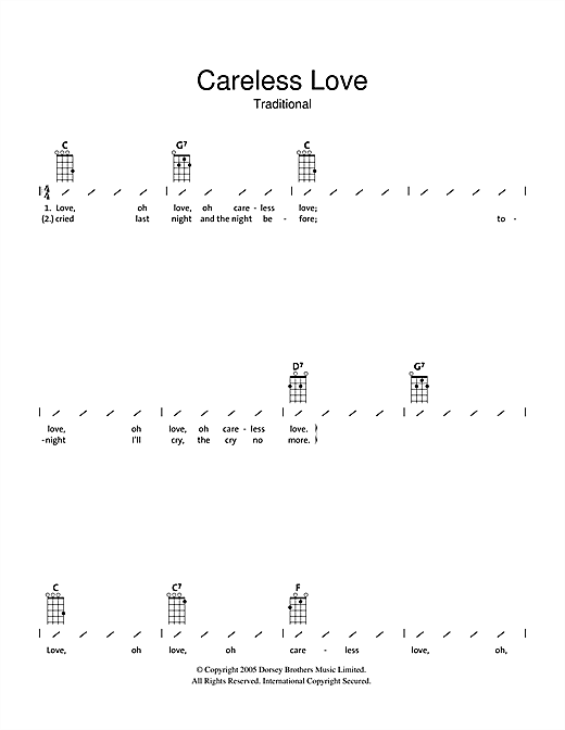 Careless Love Sheet Music