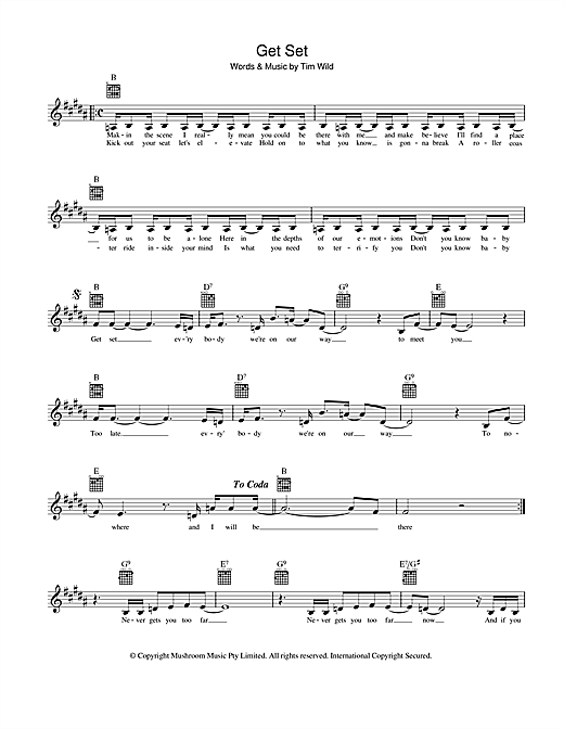 Get Set Sheet Music