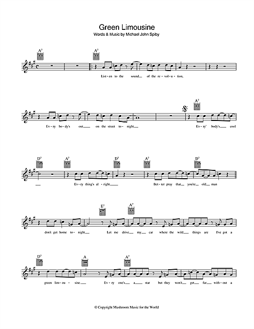 Green Limousine Sheet Music