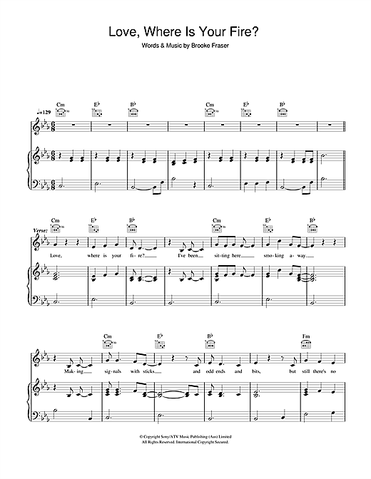 Love, Where Is Your Fire? Sheet Music