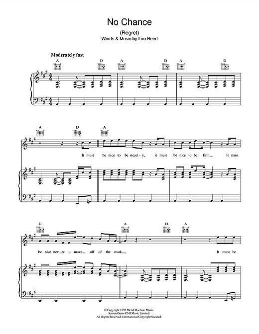 No Chance Sheet Music
