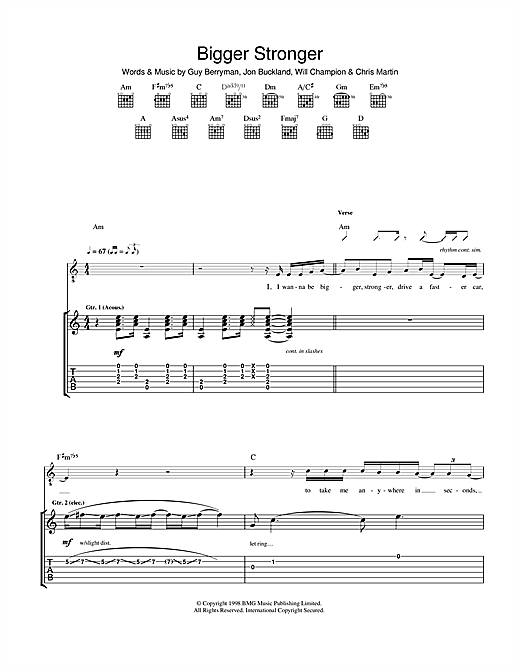 Bigger Stronger Sheet Music