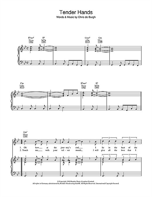 Tender Hands Sheet Music