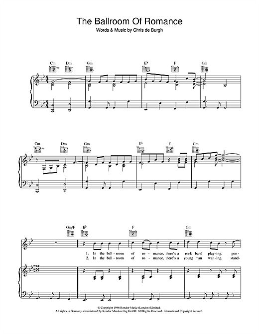The Ballroom Of Romance Sheet Music